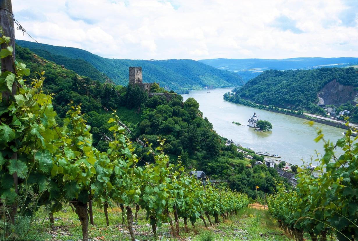 Maisema Rein-joella Saksassa.