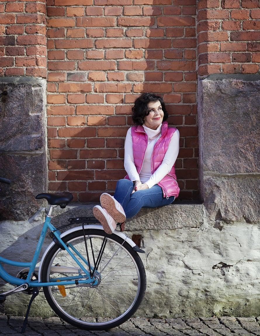 Paulan mielestä Helsinki on upea pyöräilykaupunki.