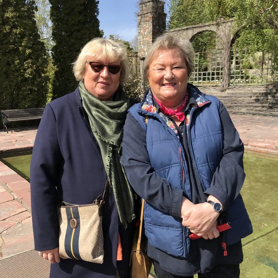 Pii Kulmalan ja Kristiina Liuksialan suosikkikohde oli Millesgården, vaikka Svenskt Tennissäkin oli heidän mielestään paljon ihailtavaa.