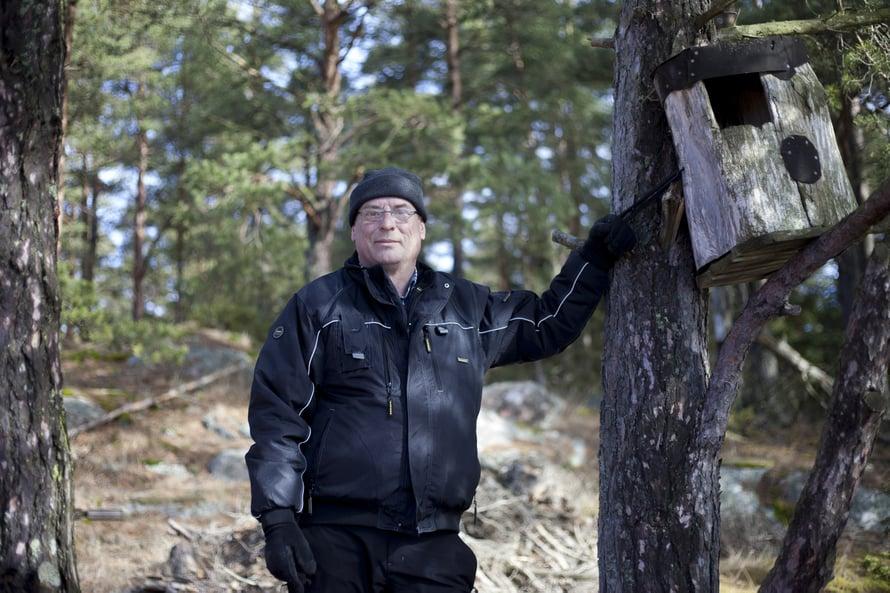 Patrik Finneman rakastaa saariston luontoa ja rikkumatonta rauhaa.