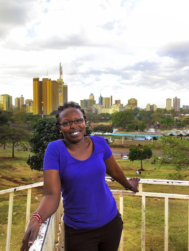 Joyce Gitao Nairobissa Uhuru Parkissa, parin kilometrin päässä keskustasta. – Täällä näkee helposti Afrikan eläimiä.