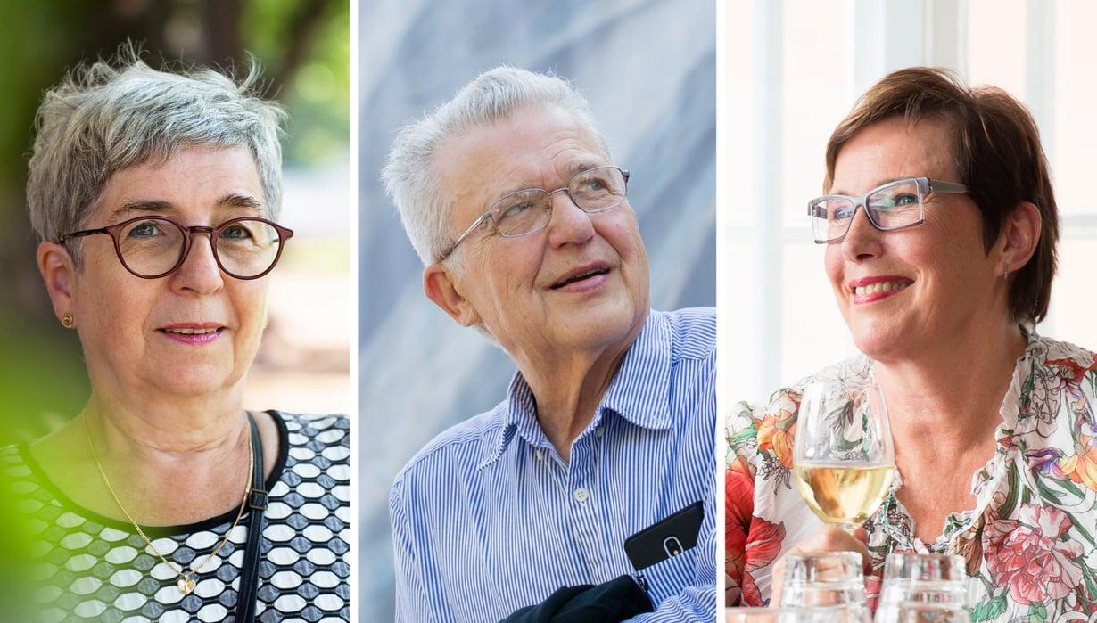 Uusi elämänvaihe on vaatinut totuttelua Hannelelta, Markulta ja Liisalta.