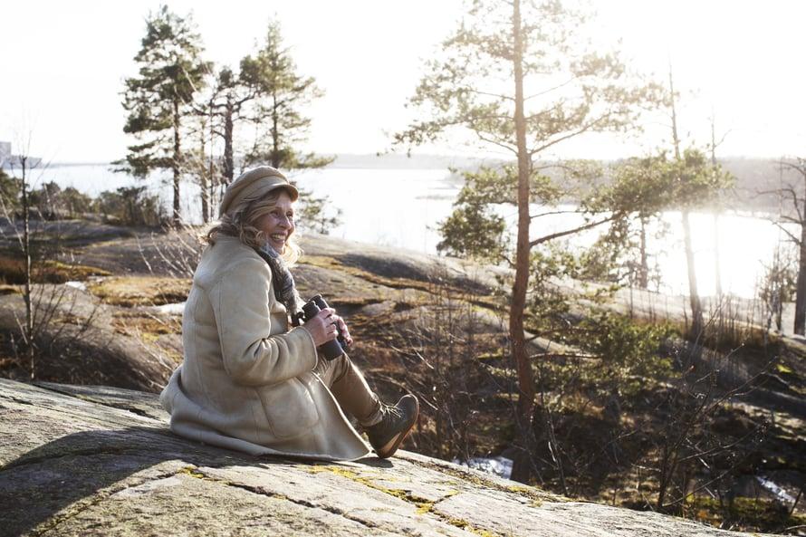 Laura Ruohosen kotimaisemista Helsingin Meilahdesta on hyvät mahdollisuudet tarkkailla merenrantojen lintujen elämää.