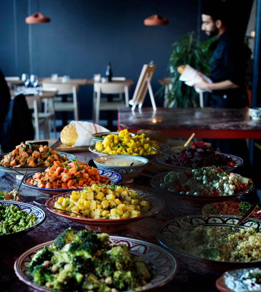 Sandron buffet ja brunssi sopivat myös vegaaneille.