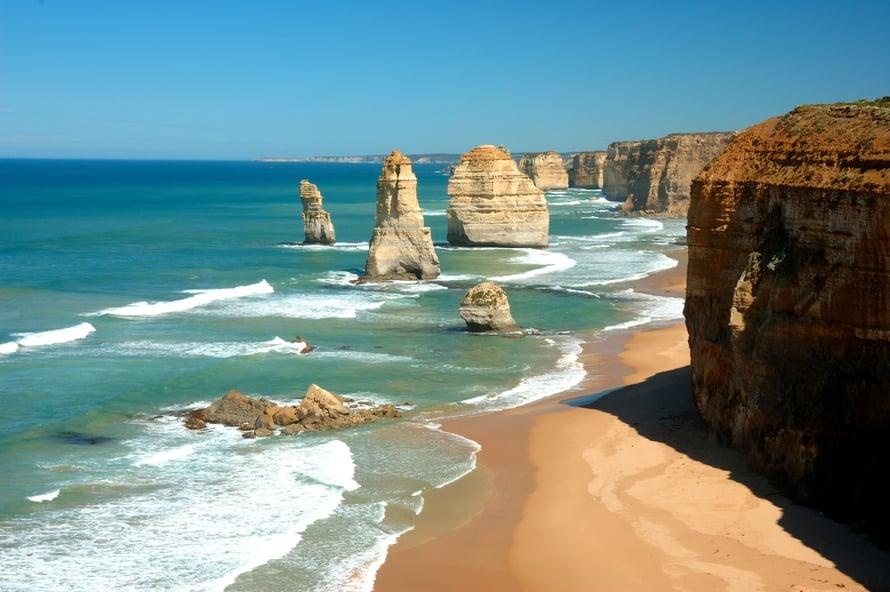 Great Ocean Roadin kivet on nimetty 12 apostoliksi.