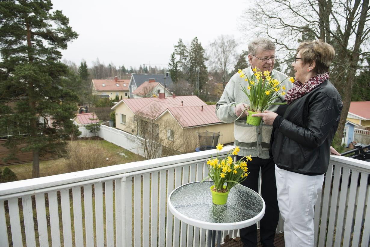 """""""Koti on ollut koko ajan yhteinen projektimme"""", Hannu ja Ulla kertovat."""