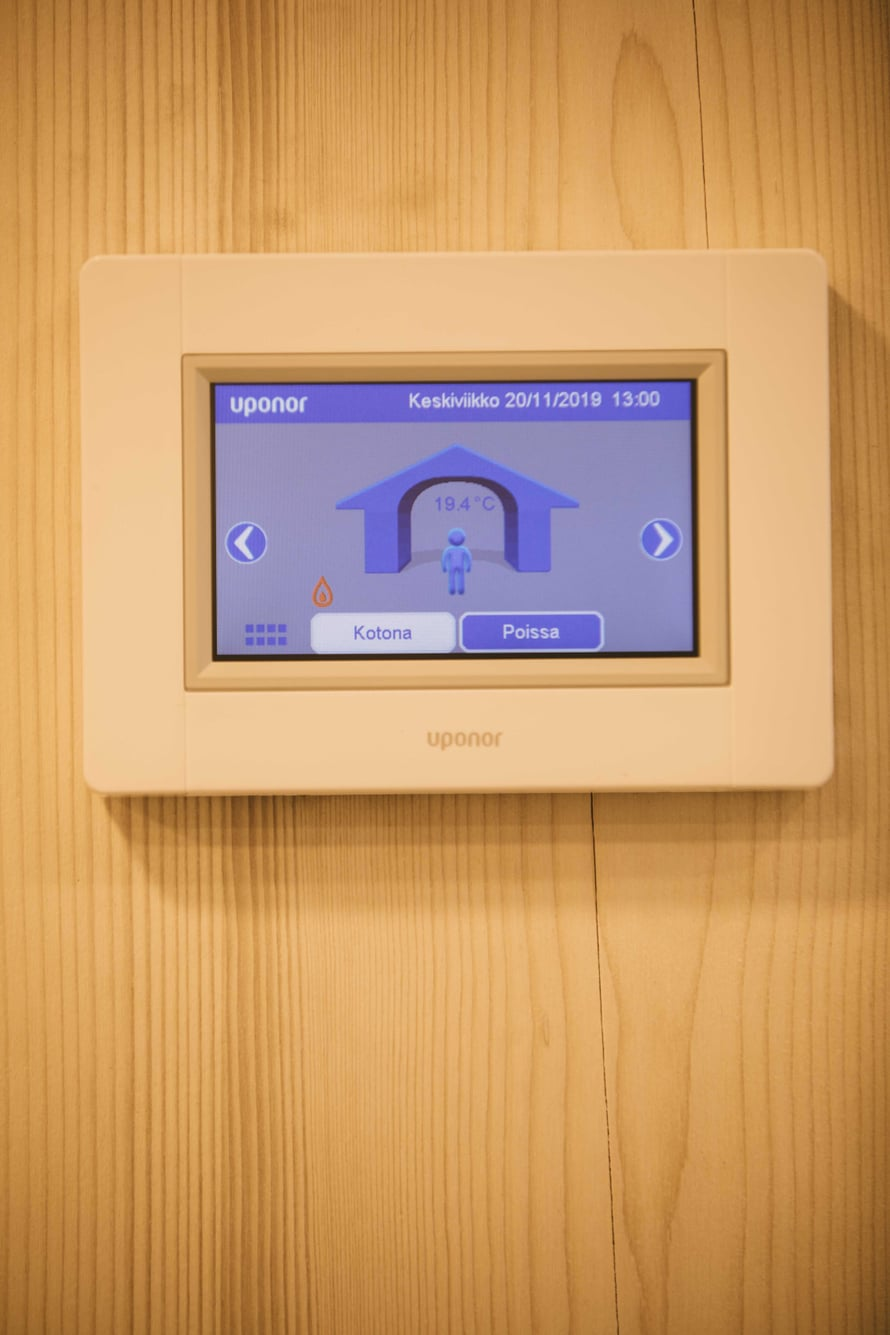 Lapinjärvitaloissa suositaan yksinkertaista tekniikkaa ja selkeitä näyttöjä.