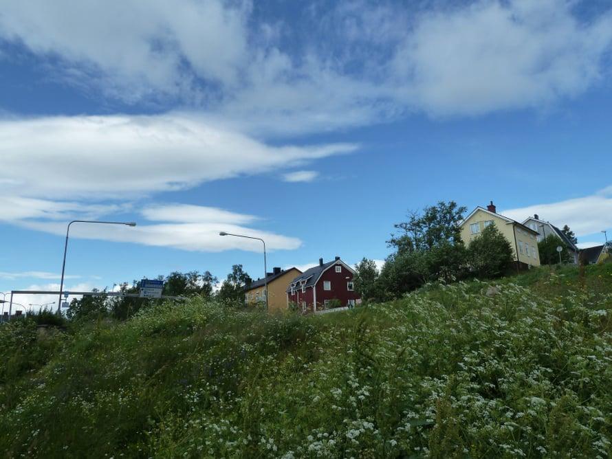 Kaupunki on rakennettu korkealle Haukivaaralle.