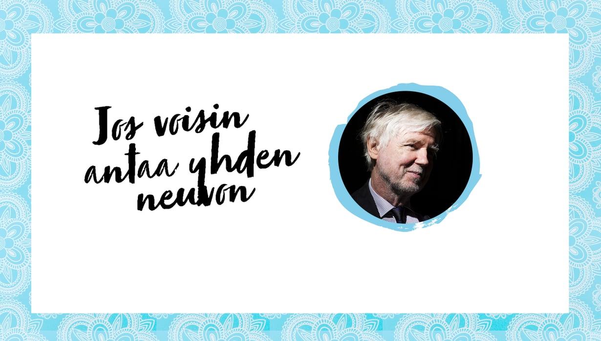 Kansanedustaja Erkki Tuomioja, 72.
