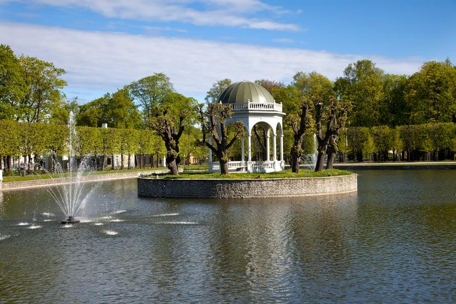 Kadriorgin puisto on suosittu ajanviettopaikka varsinkin viikonloppuisin.