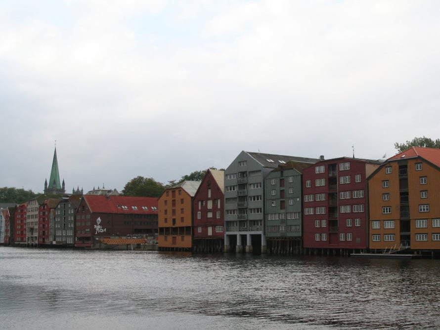 Trondheimin Bakklandet.