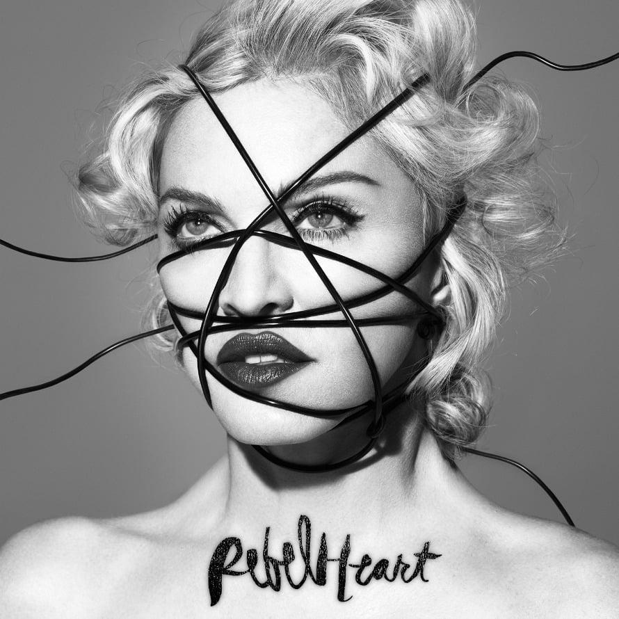 Viime vuonna ilmestyneen Rebel Heart -levyn kansikuva. Interscope Records