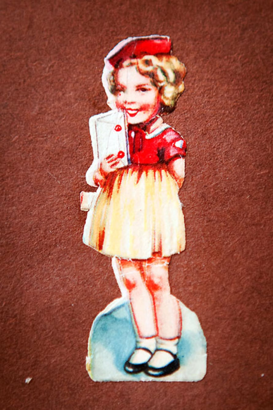 Pikkuinen Shirley Temple esiintyi 1930-luvun saksalaisissa kiiltokuvissa.