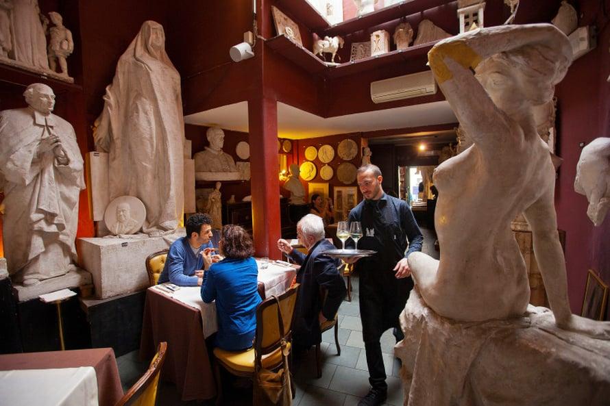 Kuvanveistäjä Canovan ateljee on nykyisin kahvila-ravintola.