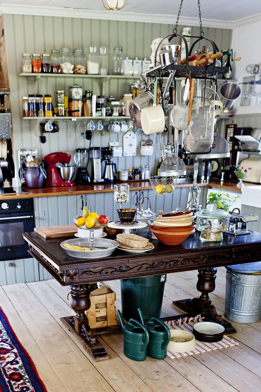 Keittiö onLindmarkienlempipaikka.