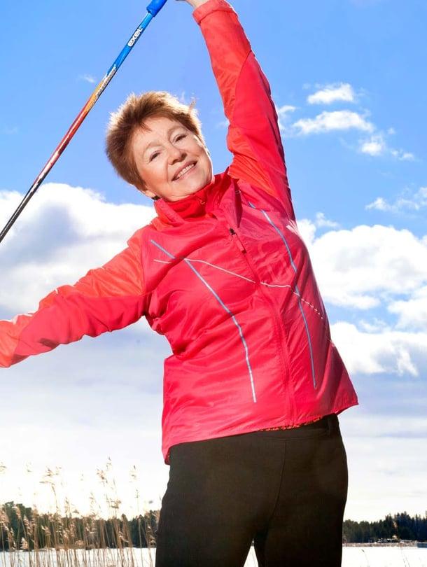 Espoolainen Leena Lahti sai personal trainerilta apua liikkumiseensa.