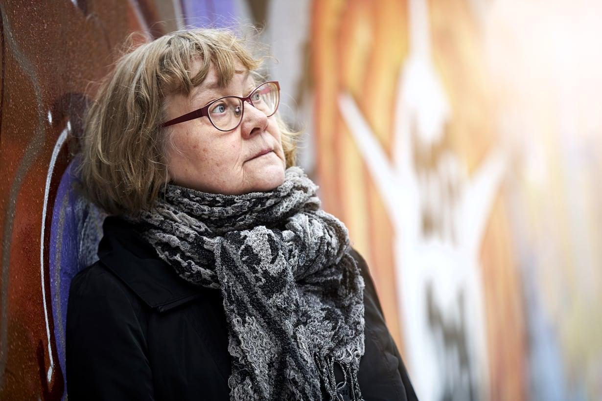 """""""Ihmettelen, mten meistä tuli pystyviä ihmisiä ilman ensimmäistäkään kehittämissuunnitelmaa"""", Pirkko Nuolijärvi sanoo."""