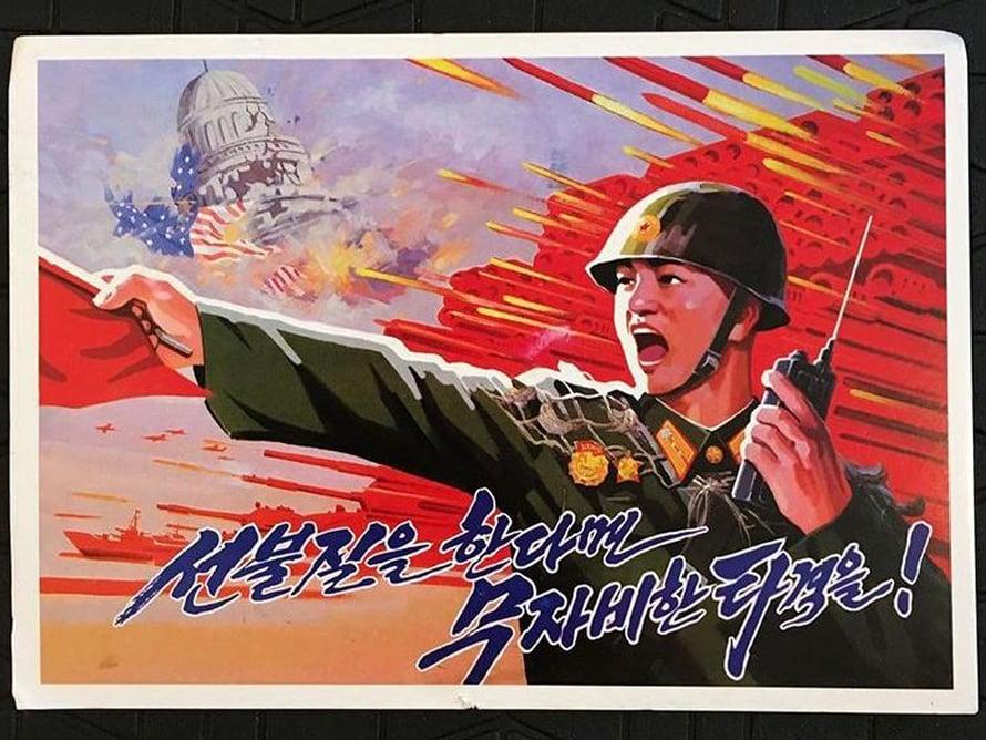 Matkaoppaan toimituspäällikkö Elina Salo  sai sisareltaan postikortin Pohjois-Koreasta.