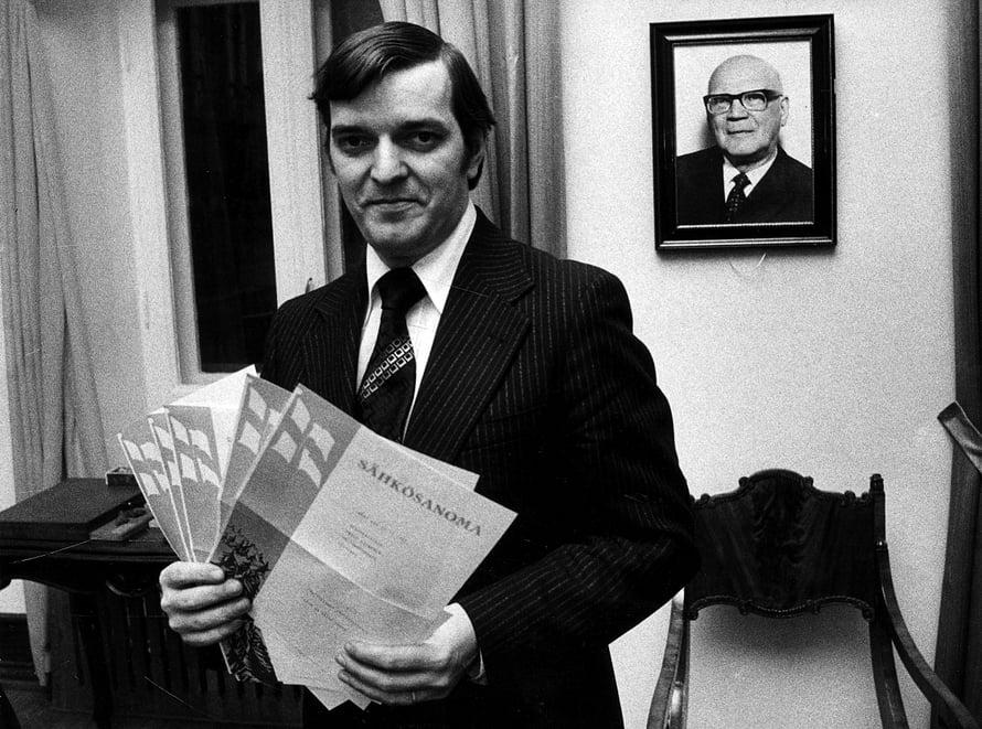 Paavo Väyrynen valittiin eduskuntaan ensimmäisen kerran 23-vuotiaana vuonna 1970. Kuva vuodelta 1978.