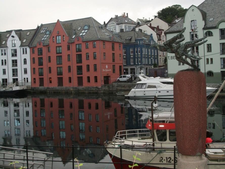 Ålesundin keskustassa.