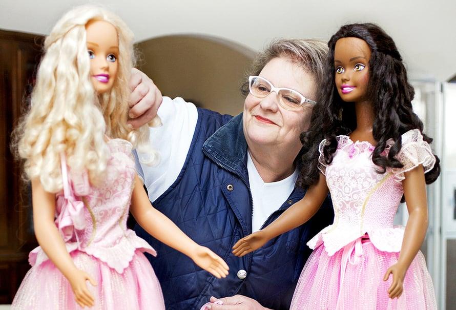 Ursulan isot nuket ovat peräisin Pähkinänsärkijä-baletin maailmasta.