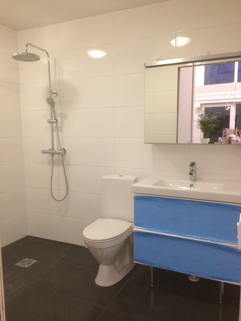 Myös toimivat wc- ja suihkutilat ovat muuttoluvan edellytys.