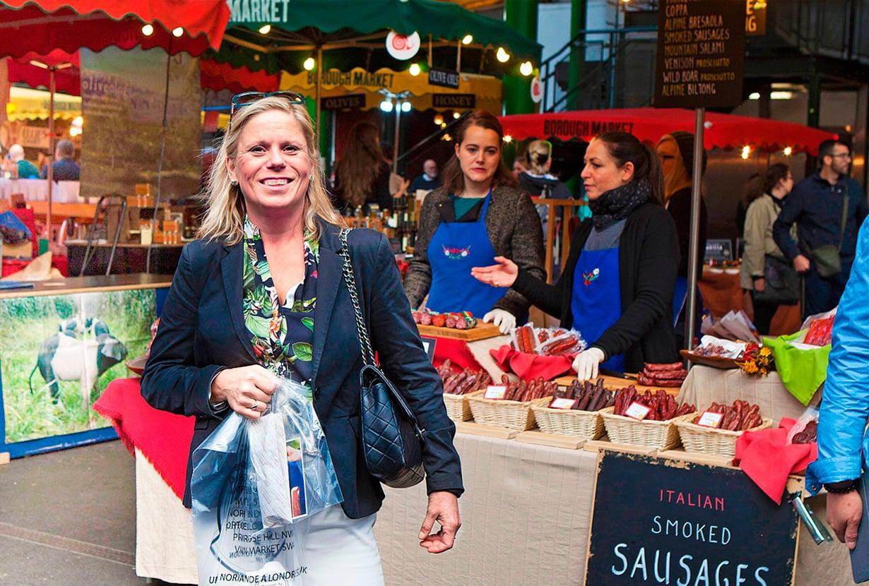 Hannele viihtyy Lontoon markkinoilla.
