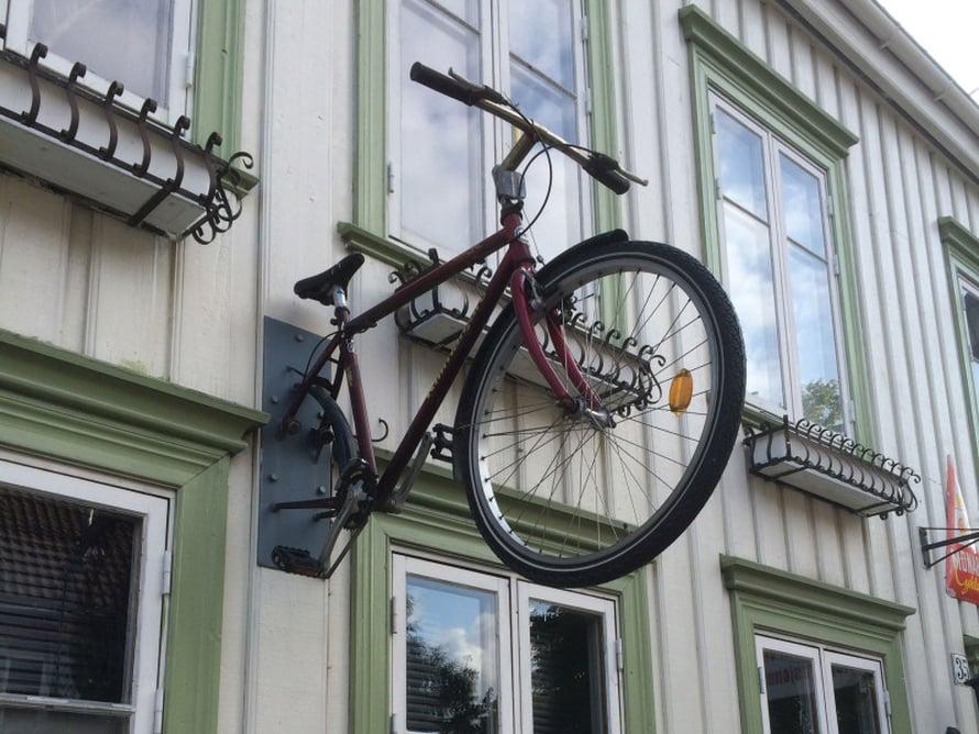 Pyöräliike Trondheimissa.
