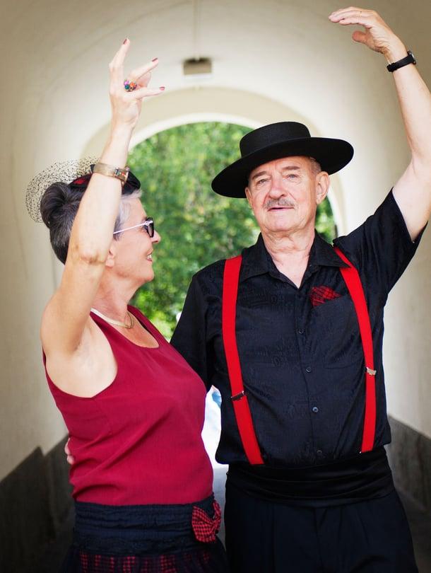 Jorma Nuotio harrastaa tanssia vaimonsa Marja Kaskela-Nuotion kanssa.